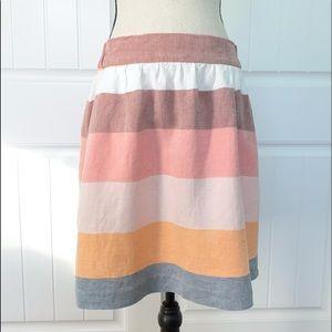 LOFT color blocking skirt with pockets